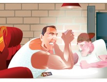 Illustration Armwrestling