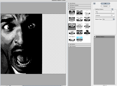 photoshop gradient tool and halftone
