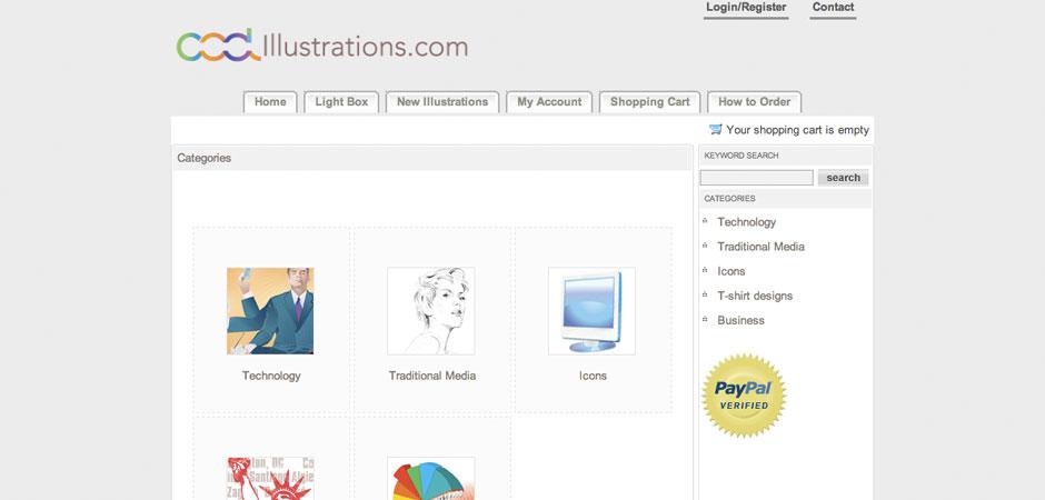 Website for coolillustrations.com